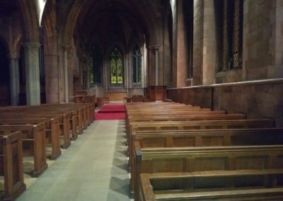 An empty Church ready for the builders to move in