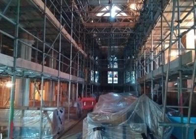 21st November – Yet more scaffolding!