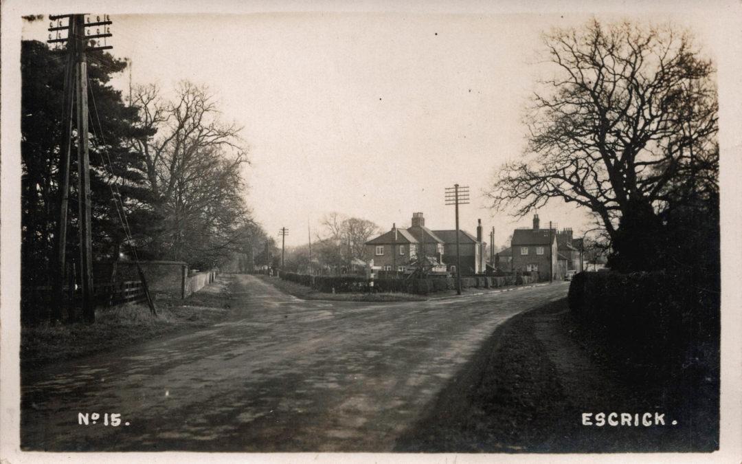 Postcard of Escrick c1930 – No. 15 in series