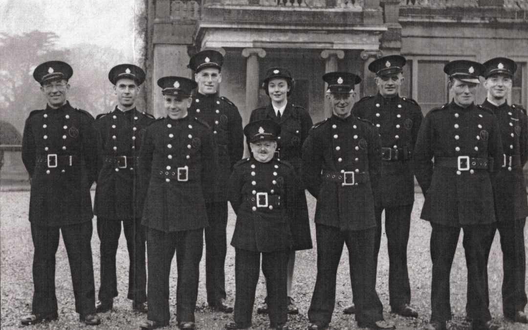 Escrick Fire Brigade – On parade in front of the Hall