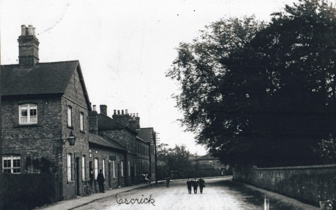 Escrick Main Street – Post office and Rectory wall