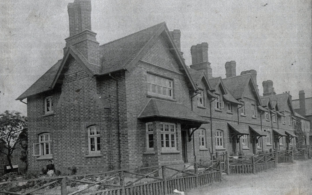 Escrick Estate Houses – South end of village with the Escrick chimney stacks