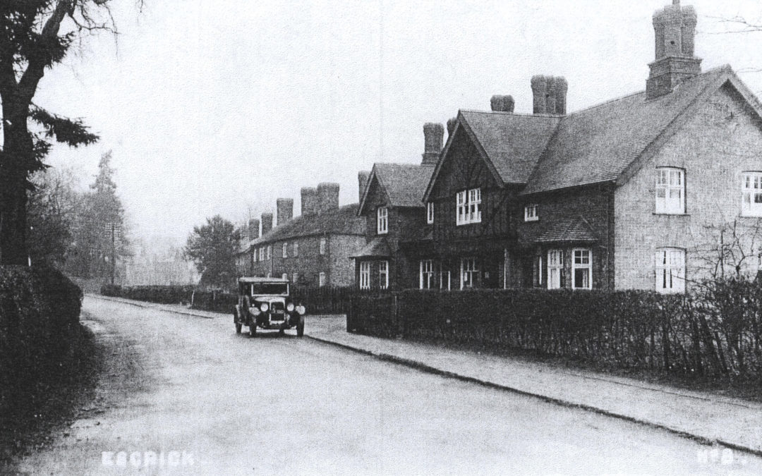 Escrick Main Street – looking towards York – Motor cars still a rarity