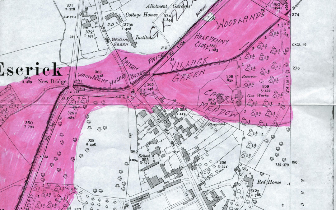 Escrick in Flood – Map showing extent of flooding
