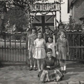 Children celebrate the Coronation