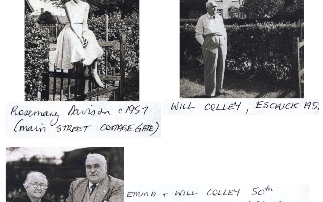Davison and Colley family 1950 to 1957 – Rosemary Davison , Will Colley, Emma and Will Colley's Golden Wedding