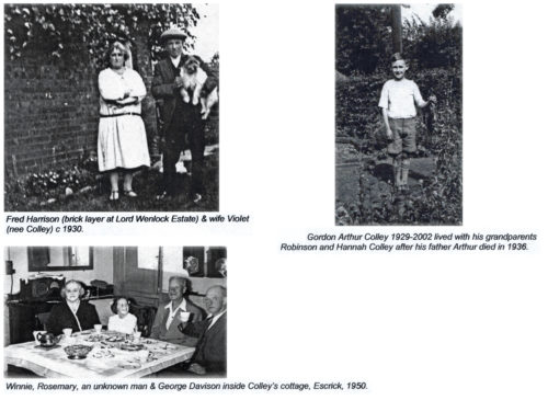 The Colley Family at Escrick. - 1930 to 1950