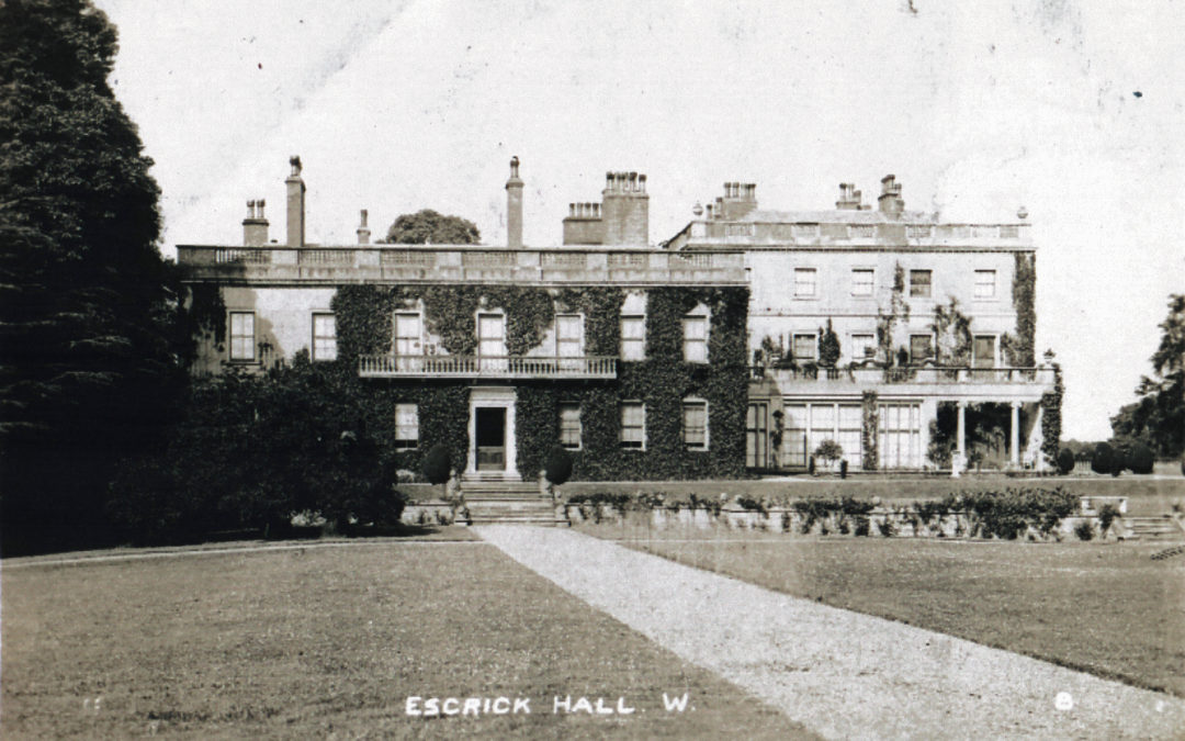 Postcard of Escrick Hall – The West Front