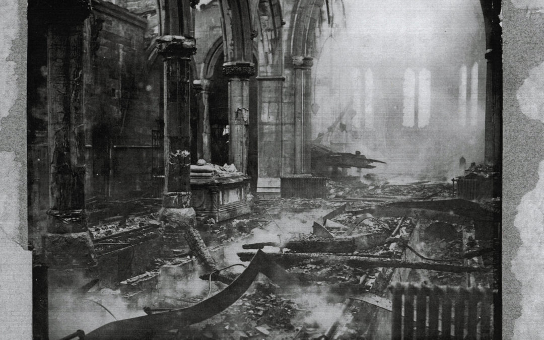 Escrick Church Interior after the fire of 5 February 1923