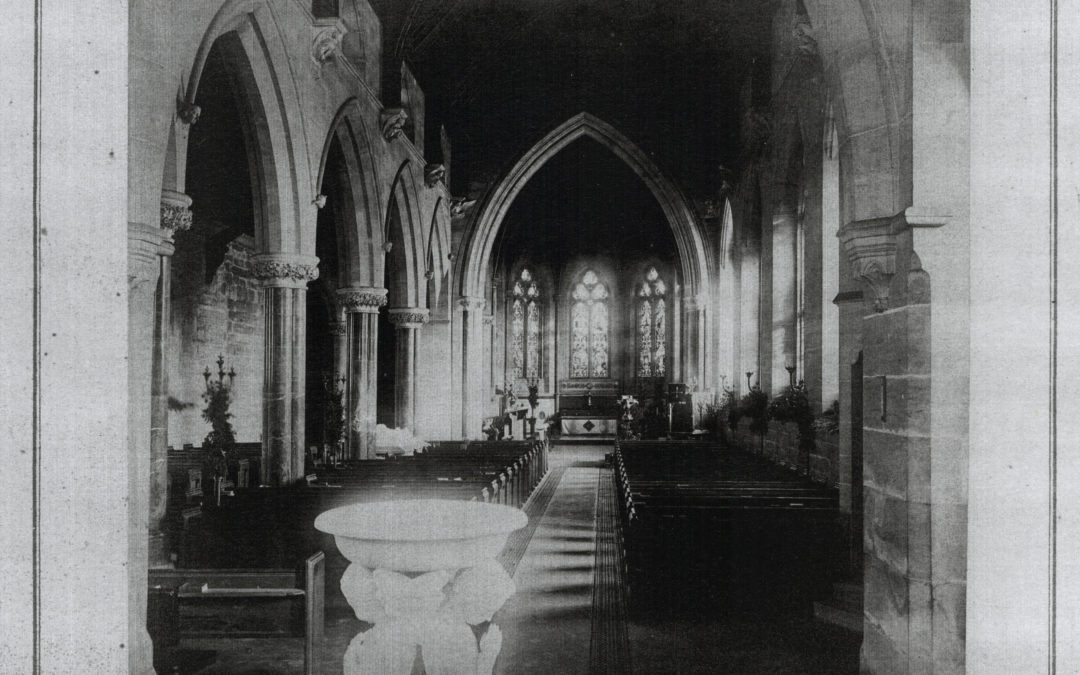 Escrick Church Nave – Before the fire of 1923