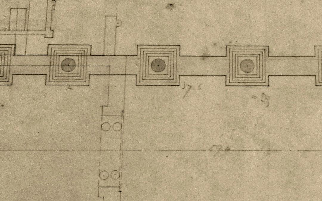 Plan view of Nave Columns for Escrick Church