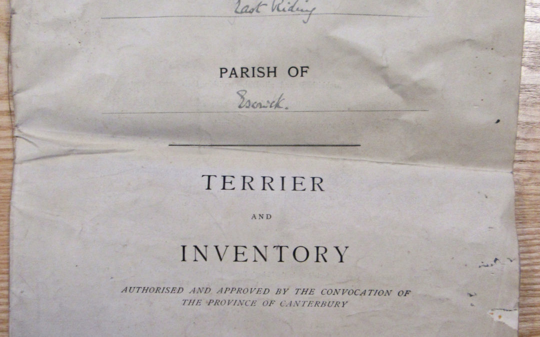Escrick Church Terrier & Inventory – 30 May 1900 Front Cover