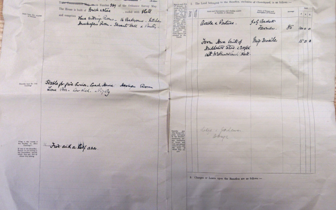 Escrick Church Terrier & Inventory – 30 May 1900 Pages 4 & 5