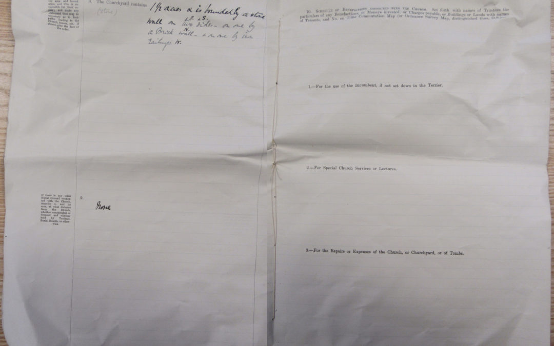 Escrick Church Terrier & Inventory – 30 May 1900 Pages 8 & 9