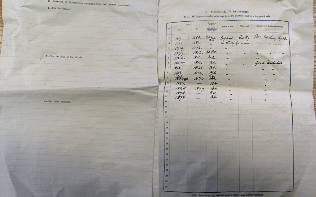 Escrick Church Terrier & Inventory – 30 May 1900 Pages 10 & 11