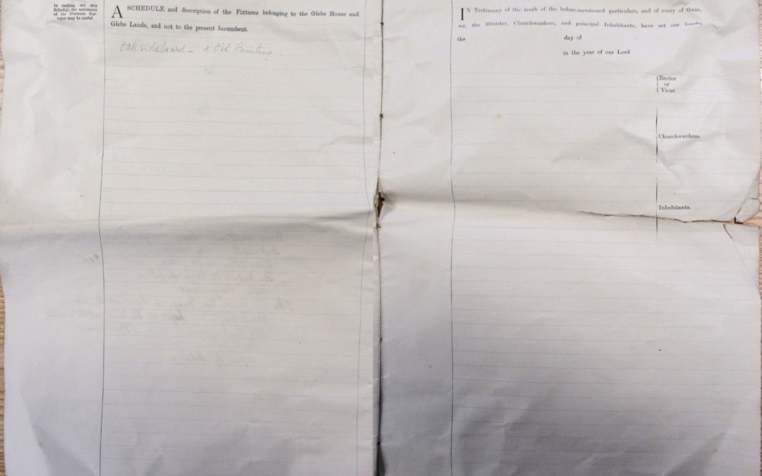 Escrick Church Terrier & Inventory – 30 May 1900 Pages 14 & 15