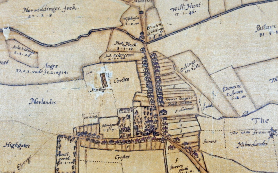 Map of Escrick 1754 – Copied by Francis White of York in 1809