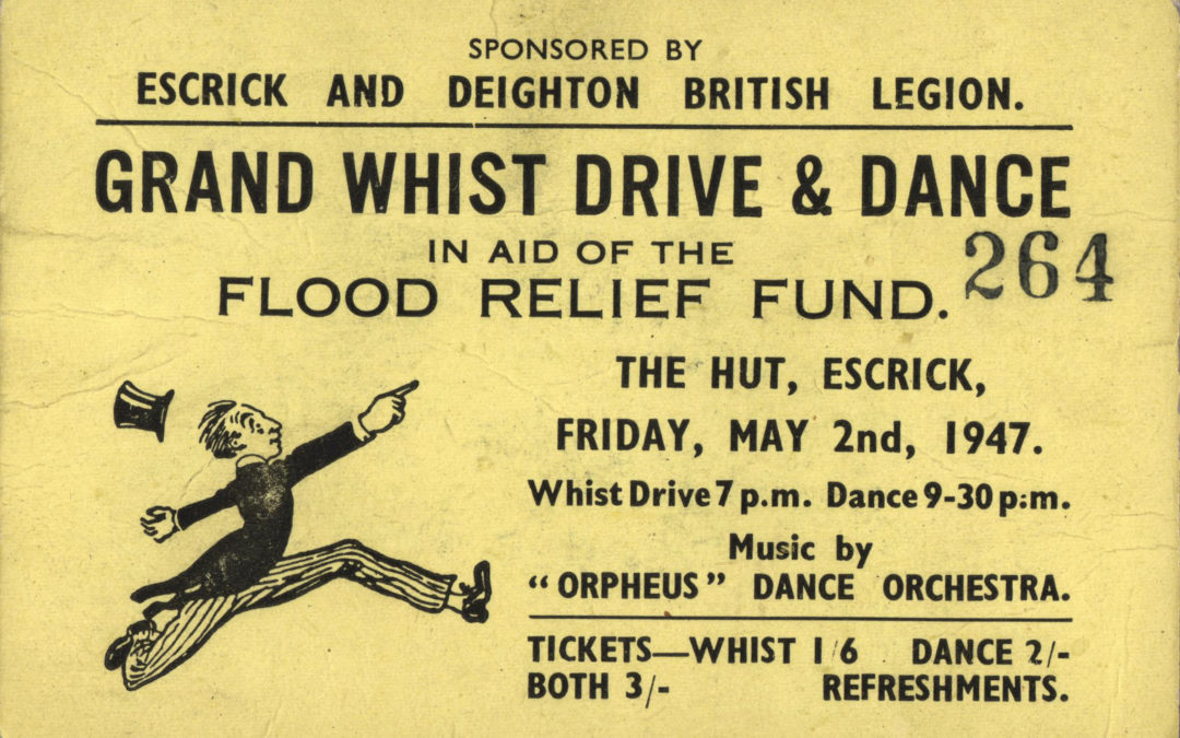 Grand Whist Drive & Dance Friday 2 May 1947 – In aid of flood relief fund, music by Orpheus Dance Orchestra