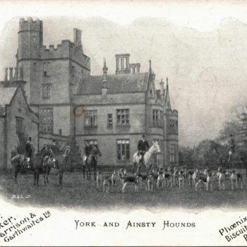 Postcard of Moreby Hall - York and Ainsty Hounds