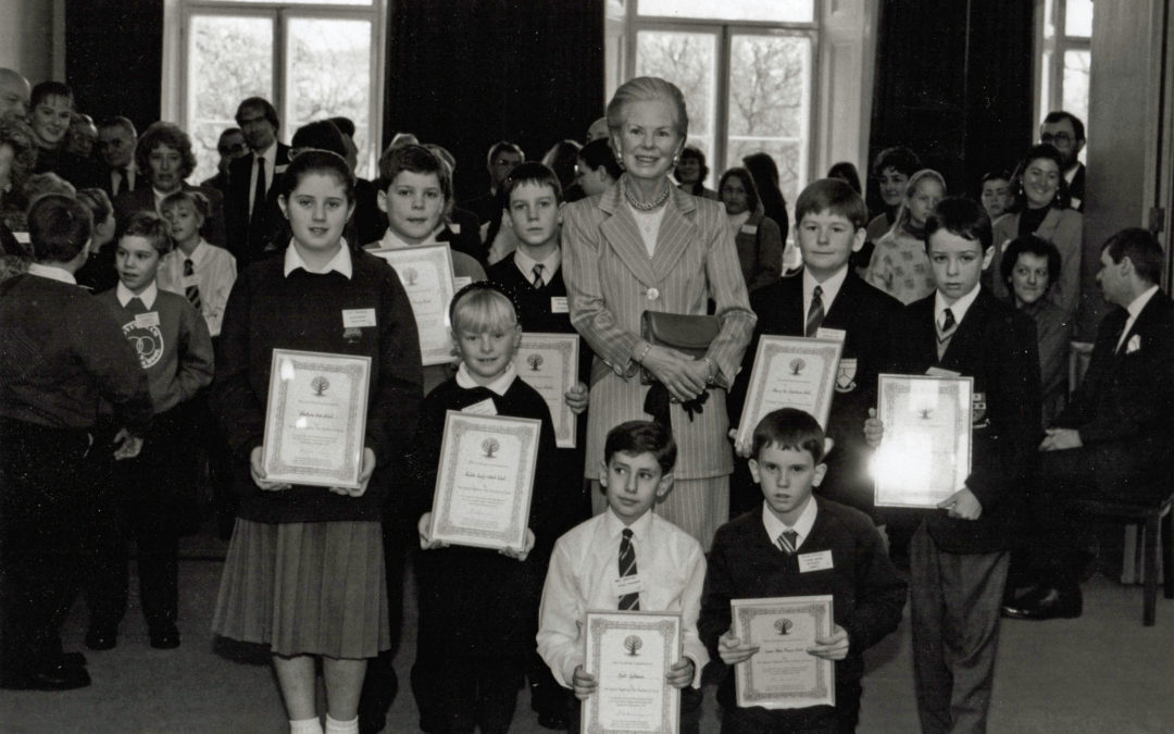 School prize giving attended by HRH Duchess of Kent – Children's award for Tree Council competition November 1992