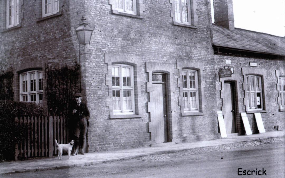 Postcard of Escrick Post Office, Main Street