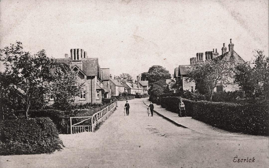Postcard of Escrick Main Street