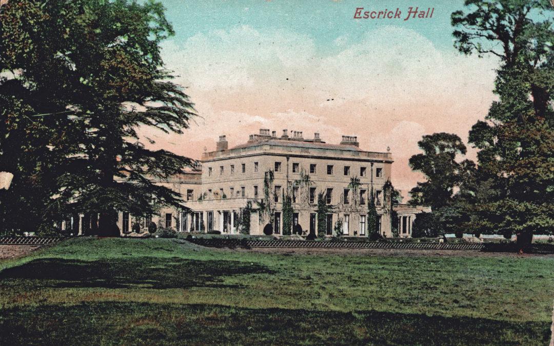 Postcard of Escrick Hall