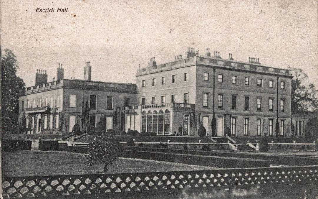 Postcard of Escrick Hall 1904