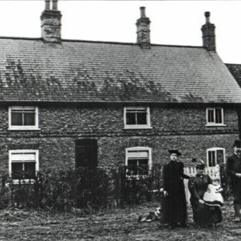 Mount Farm Escrick - Farm House with Sefton & Hannah Tomlinson with child Hilda (Spring 1895)