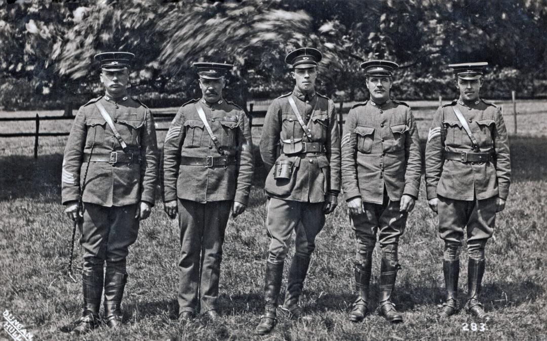 Postcard of Quartermaster Sergeant Sefton Tomlinson – East Riding Imperial Yeomanry – c WW1