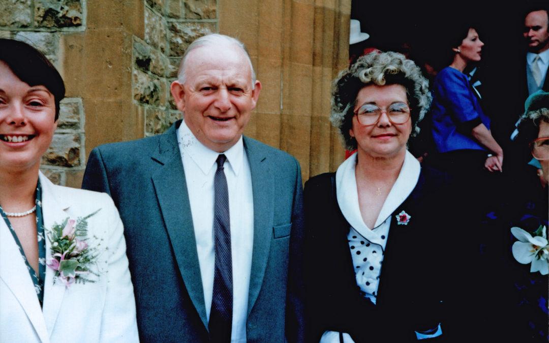 Violet, Gordon & Joan Sarginson – Family Wedding 1987