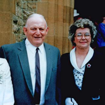 Violet, Gordon & Joan Sarginson - Family Wedding 1987