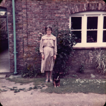 Violet Sarginson with Sally the dog