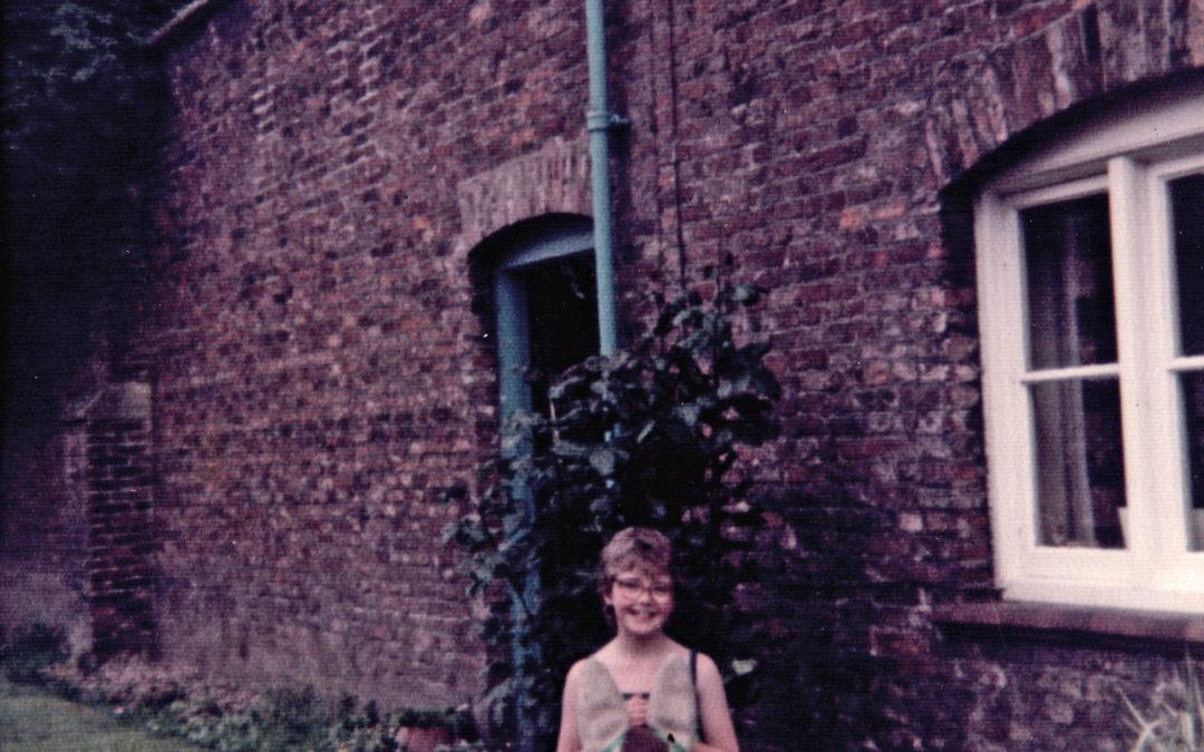 Joan Sarginson outside Escrick Park gardens c 1960's