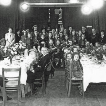 Girl Guides & Brownies in the Bowling Green Hut (Riccall)