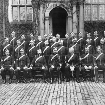 East Riding Imperial Yeomanry at Heslington Hall (Lord Deremore's home)