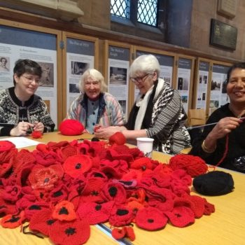 Knitted Poppies.