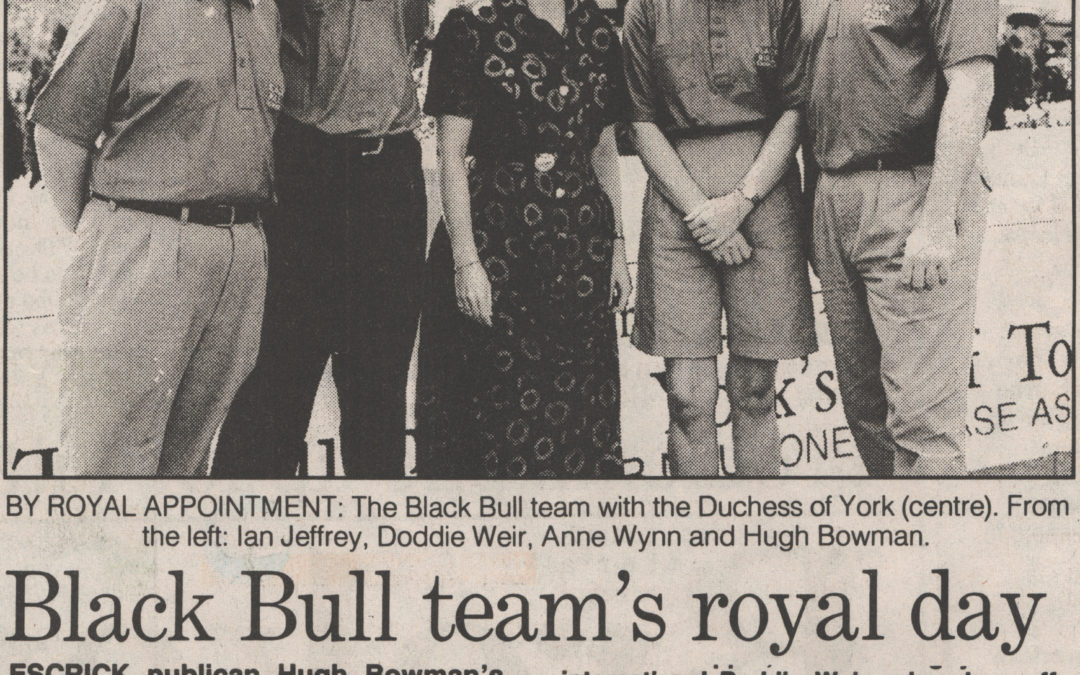 A right Royal Black Bull Golf Team – Duchess of York visits a charity tournament at Wentworth 2 Sep 1995