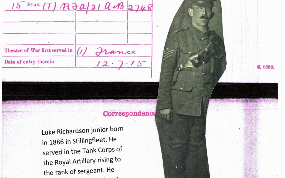 Luke Richardson – Military details 1915