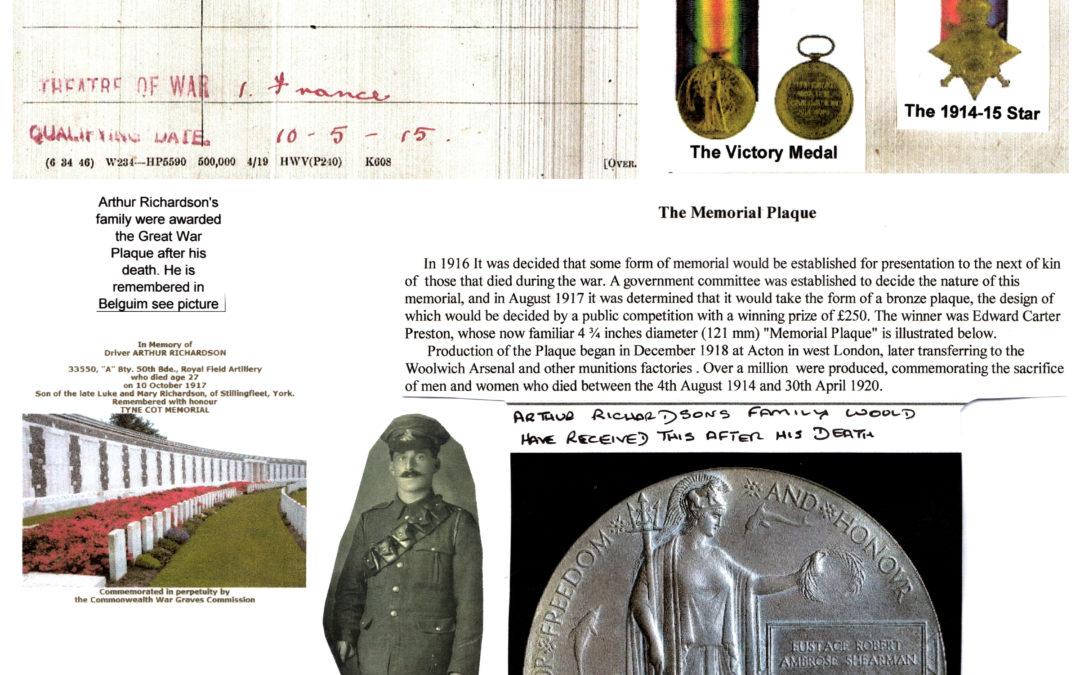 Arthur Richardson – Military details 1915