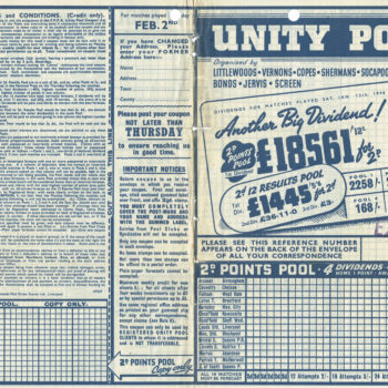 Pools coupon - 12 January 1946