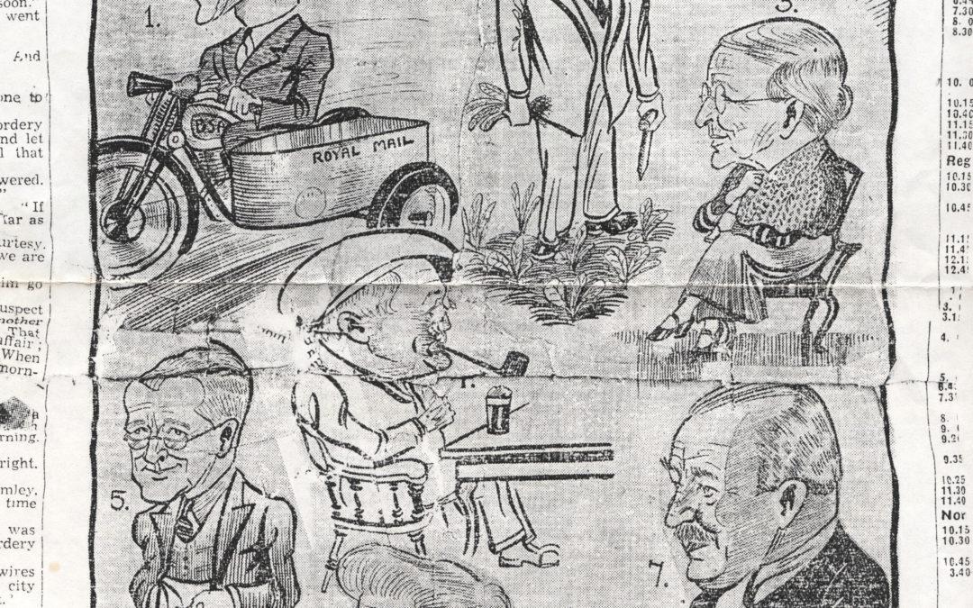 Portrayal of trades people from Escrick & war veteran Dick Coulson – October 1937