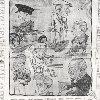 Portrayal of trades people from Escrick & war veteran Dick Coulson - October 1937