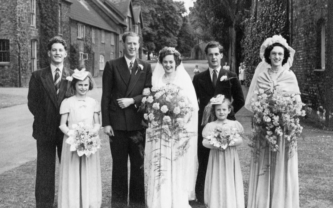 Wedding of Edward & Irene Hampshire – Escrick 28 June 1952