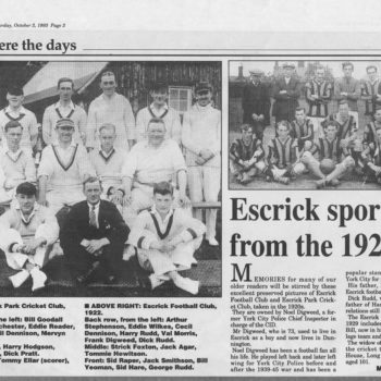 Escrick Sportsmen from the 1920's