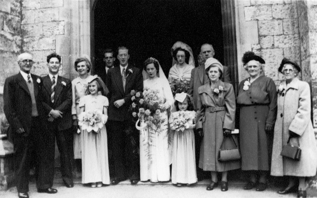 Wedding of Ted & Irene Burton (nee Hampshire) – Escrick 1952