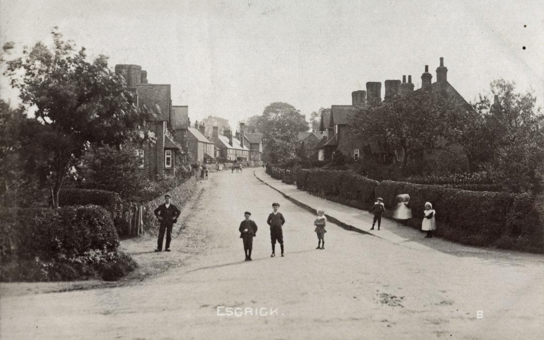 Postcard of Main Street Escrick – 1906