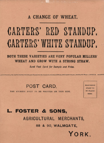 Postcard of L. Foster & Sons Agricultural Merchants