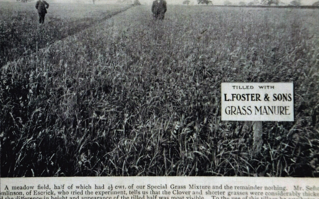 Field tilled with L. Foster & Sons Grass Manure