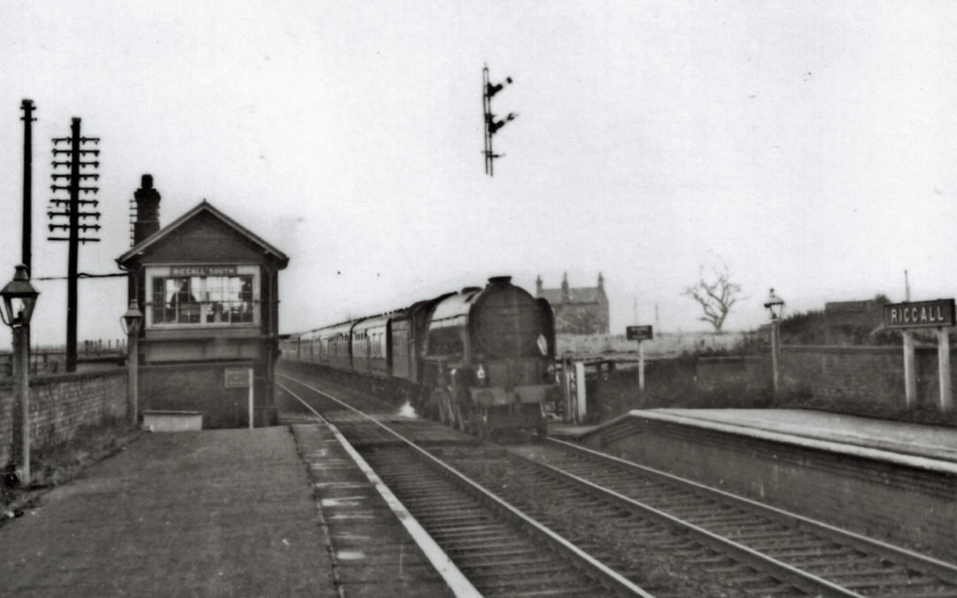 Train approaching Riccall Railway Station